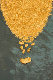 Oro naturale del giacimento detritico Fotografia Stock