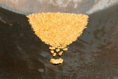 Oro naturale del giacimento detritico Immagini Stock Libere da Diritti