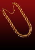 Oro neck-less Fotografia Stock Libera da Diritti