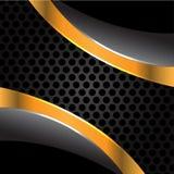 Oro negro en vector gris de la malla del círculo Imagenes de archivo