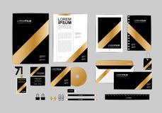 Oro, negro y plantilla de plata de la identidad corporativa para su negocio 7 Fotos de archivo
