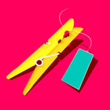 Oro o clavija amarilla Foto de archivo libre de regalías