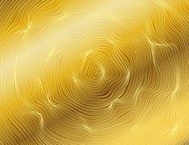 Oro ondulato, linee lusso Fondo delle bande dell'oro di struttura di vettore La bobina della striscia illustrazione vettoriale