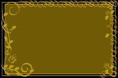 Oro ornamentale e cenni storici neri. Immagine Stock Libera da Diritti