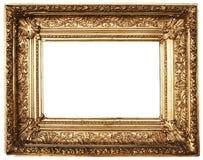 Oro ornato della cornice (percorso incluso) Fotografia Stock