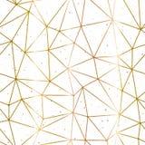 Oro poligonal geométrico y vector blanco del fondo Fotografía de archivo libre de regalías