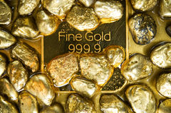 Oro puro Fotografia Stock