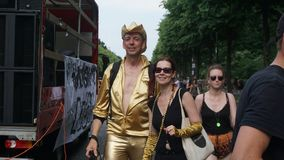 Oro puro a Berlino, parco di Tiergarten immagine stock