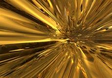 Oro que fluye Foto de archivo libre de regalías