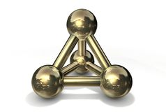 Oro/rame della struttura della molecola Fotografia Stock