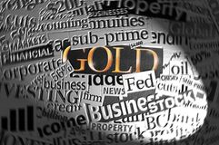 Oro in riflettore. fotografia stock