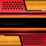 Oro rojo de la tecnología abstracta y vector negro del fondo Imagen de archivo libre de regalías