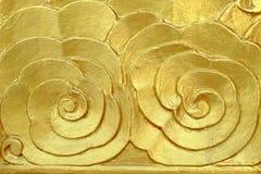 Oro tallado en puerta Imagen de archivo libre de regalías
