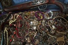 Oro, tesoros ocultados Foto de archivo libre de regalías