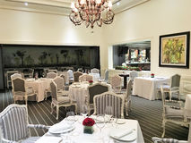 Oro Verde Hotel Le Gourmet Restaurant. GUAYAQUIL, ECUADOR - FEBRUARY 15, 2017: Oro Verde Hotel Le Gourmet Restaurant. Recognized as one of the best restaurants stock photography