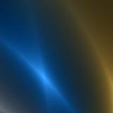 Oro y Bluestreaks de la luz Fotografía de archivo libre de regalías