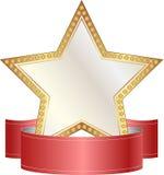 Oro y estrella del blanco Foto de archivo libre de regalías