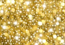 Oro y estrellas del fondo Foto de archivo libre de regalías