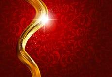 Oro y fondo abstracto rojo Foto de archivo libre de regalías
