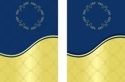 Oro y fondo azul Foto de archivo libre de regalías