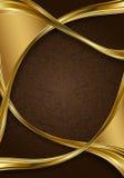 Oro y fondo floral abstracto del marrón Imágenes de archivo libres de regalías