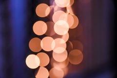 oro y luces borrosas suaves anaranjadas del bokeh fotografía de archivo libre de regalías