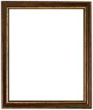 Oro y marco antiguo de madera Fotos de archivo