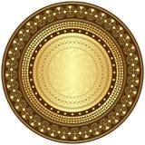 Oro y marco redondo del marrón Fotos de archivo libres de regalías