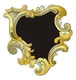 Oro y marco retro del negro