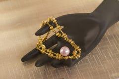 Oro y perla Fotos de archivo