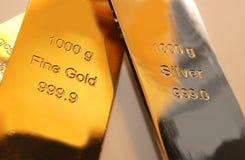 Oro y plata Imagen de archivo libre de regalías