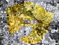 Oro y plata de cristal de mosaico Fotos de archivo