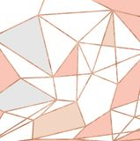 Oro y Rose Pink Glitter Geometric Pattern libre illustration