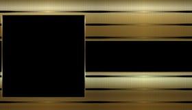 Oro y tarjeta de visita negra Fotos de archivo