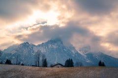 Orobie chmury i góry obrazy royalty free