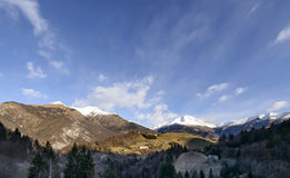 Orobie winter landscape near Oltre il Colle, Bergamo, Italy Royalty Free Stock Image