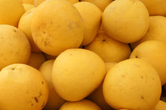 Oroblanco fruit. Oroblanco, Sweetie, a hybrid between grapefruit and pomelo, slightly larger than grapefruit but with thicker rind, and sweeter pulp without Stock Photo