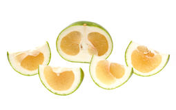 Oroblanco sweetie fruit. Group a hybrid of pomelo and white grapefruit, grown in Israel Royalty Free Stock Photo
