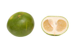 Oroblanco sweetie fruit. Group a hybrid of pomelo and white grapefruit, grown in Israel Stock Images