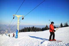 Ośrodek narciarski w Carpathians Zdjęcie Royalty Free