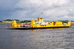 Cable ferry on island of Oroe Stock Photos