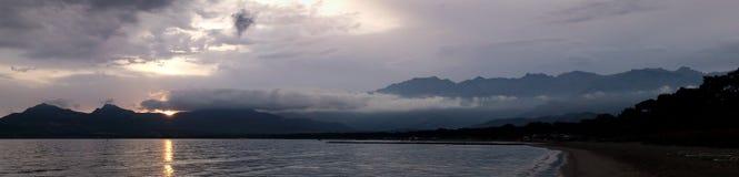 Orographic облака, Calvi, Корсика Стоковое Изображение RF