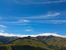 Orographic clouds, Banks Peninsular, NZ. Royalty Free Stock Image