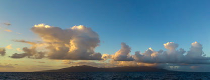 Orographic clouds, Guadeloupe. Royalty Free Stock Images
