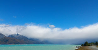 Orographic clouds, Mt Cook, NZ. Stock Photography