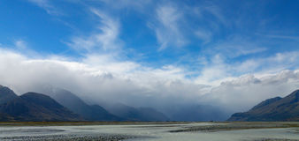 Orographic clouds, Mt Cook, NZ. Royalty Free Stock Image