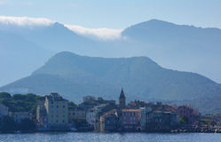 Orographic clouds, St Florent, Corsica. Stock Photo