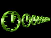 orologi 3D Immagini Stock