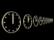 orologi 3D Fotografie Stock