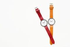 Orologi arancio e rossi Fotografia Stock Libera da Diritti